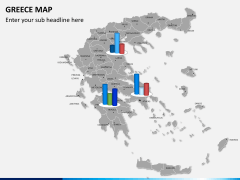 Greece map PPT slide 11