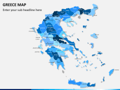 Greece map PPT slide 12