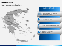 Greece map PPT slide 13