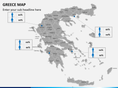 Greece map PPT slide 14