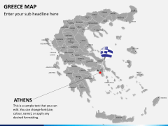 Greece map PPT slide 15