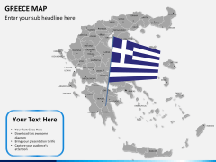 Greece map PPT slide 16