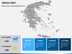 Greece map PPT slide 17