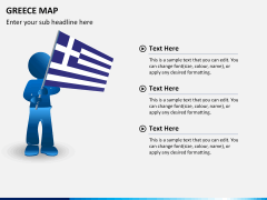 Greece map PPT slide 19