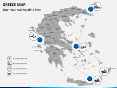 Greece map PPT slide 2