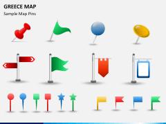 Greece map PPT slide 21