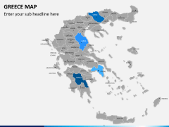 Greece map PPT slide 3