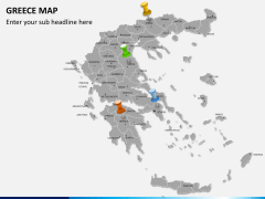Greece map PPT slide 4