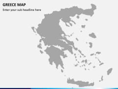 Greece map PPT slide 6