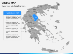 Greece map PPT slide 8