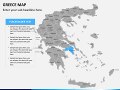Greece map PPT slide 9