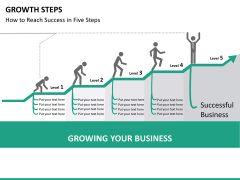 Growth steps PPT slide 12
