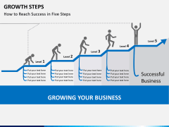 Growth steps PPT slide 1