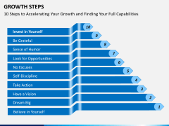 Growth steps PPT slide 2