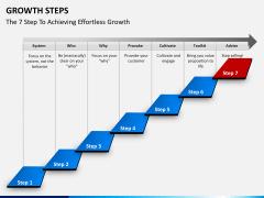 Growth steps PPT slide 8