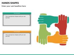 Hands shapes PPT slide 7