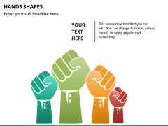 Hands shapes PPT slide 9