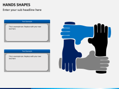 Hands shapes PPT slide 1