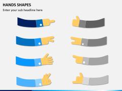 Hands shapes PPT slide 2