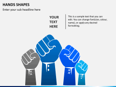 Hands shapes PPT slide 3