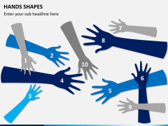Hands shapes PPT slide 4