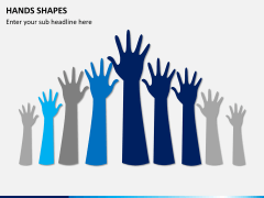 Hands shapes PPT slide 6