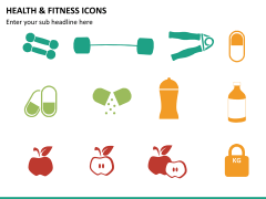 Health and fitness icons PPT slide 5