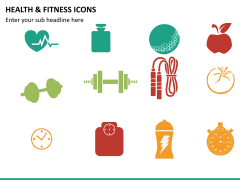 Health and fitness icons PPT slide 6