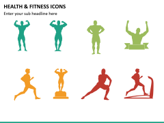 Health and fitness icons PPT slide 7