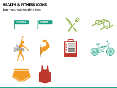 Health and fitness icons PPT slide 8
