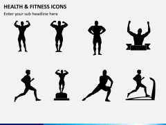 Health and fitness icons PPT slide 3