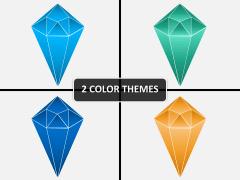 Hexagonal diamond PPT cover slide