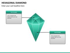 Hexagonal diamond PPT slide 8