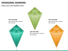 Hexagonal diamond PPT slide 9
