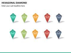 Hexagonal diamond PPT slide 10