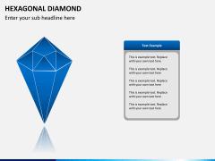 Hexagonal diamond PPT slide 1