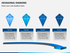 Hexagonal diamond PPT slide 2