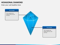 Hexagonal diamond PPT slide 3