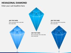 Hexagonal diamond PPT slide 4