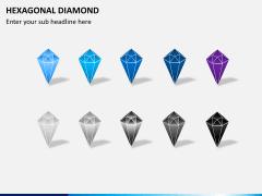 Hexagonal diamond PPT slide 5