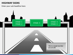 Highway signs PPT slide 4