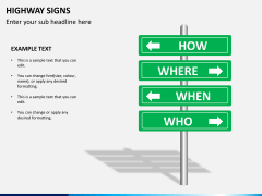 Highway signs PPT slide 6