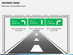 Highway signs PPT slide 7