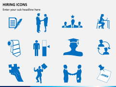 Hiring icons PPT slide 2