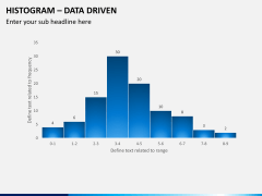 Histogram chart PPT slide 1