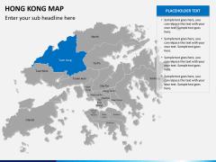 Hongkong map PPT slide 11