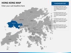 Hongkong map PPT slide 12
