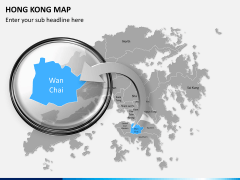 Hongkong map PPT slide 13