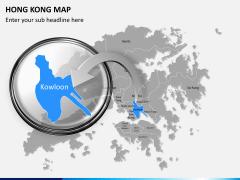 Hongkong map PPT slide 14