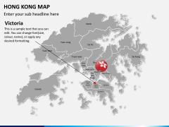 Hongkong map PPT slide 18